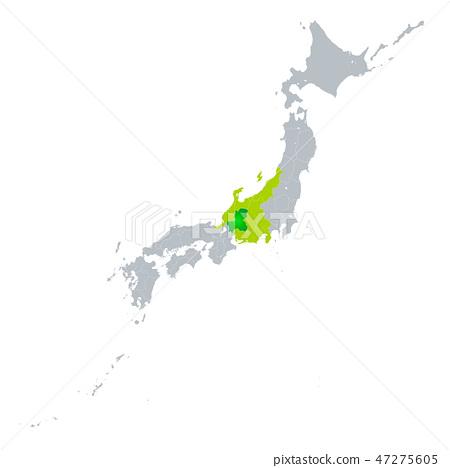 แผนที่จังหวัดกิฟุ 47275605