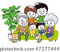 在沙发上的家庭团队 47277444