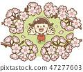 Sakura and children 47277603