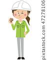 blue collar worker, laborer, female 47278106