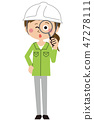 blue collar worker, laborer, female 47278111
