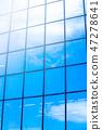 glass window of modern skyscraper 47278641