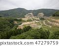 Construction work for Naruse dam, Higashinaruse village, Akita prefecture 47279759