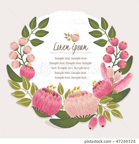 Vector illustration of a floral frame 47280328