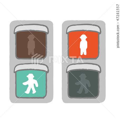 Signal machine for pedestrians 47281557