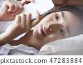 여성 휴식 47283884