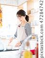 做有夫人的主婦廚房廚房做早餐 47284742