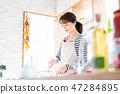 做有夫人的主婦廚房廚房做早餐 47284895