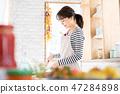 做有夫人的主婦廚房廚房做早餐 47284898