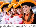German traditional dance group Funkenmariechen 47285239