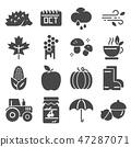 Autumn icon set. vector set.  47287071
