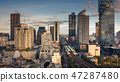 Cityscape of Bangkok city and skyscrapers building 47287480