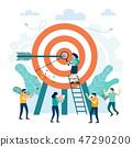 Target with an arrow, hit the target 47290200