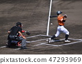 Foul tip left batter (Kochi city baseball field / Kochi city Kochi city Ohara town) 47293969