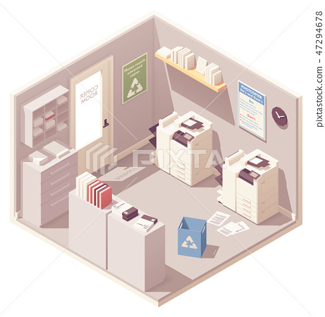 Vector isometric office copy room 47294678