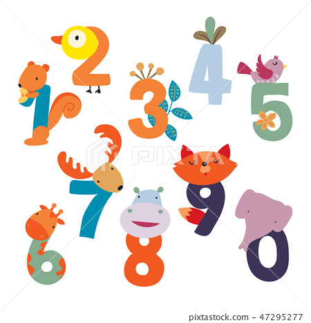 animals number vector design 47295277