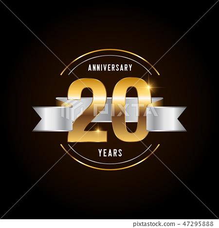 20 years anniversary celebration logotype.  47295888