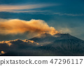Mount Etna Volcano with smoke Sicily island Italy 47296117