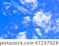 蓝天和白色云彩40 47297028