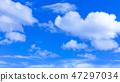 蓝天和白色云彩46 47297034