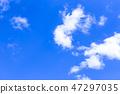 蓝天和白色云彩47 47297035