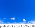 蓝天和白色云彩50 47297038