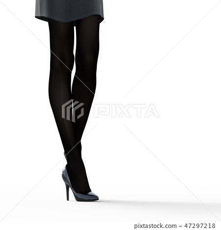 絲襪圖像美腿女人perming3DCG插圖素材 47297218