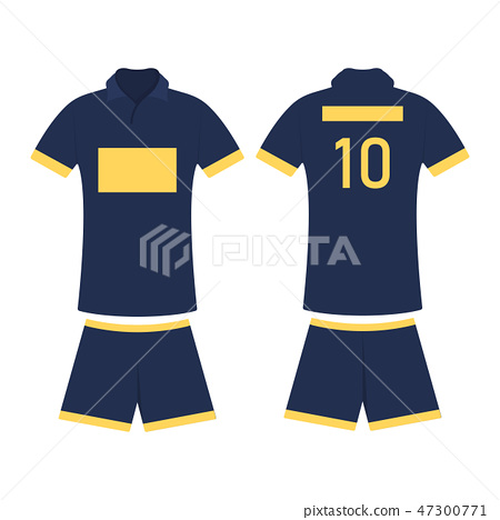 43362accab9 T-shirt sport design template for soccer jersey - Stock Illustration ...