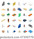 Set of icons, office and school.  47300776