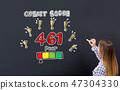 score woman blackboard 47304330