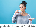 woman, cup, drinking 47304342