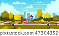 Vector background of cartoon playground in park 47304352
