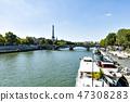 세느 강에서 바라 보는 에펠 탑 47308283