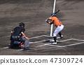 Batting (left batter) (Kochi City Baseball Ground / Kochi Prefecture Kochi City Ohara Town) 47309724