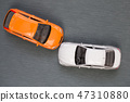 Auto accident involving two cars on the road 47310880