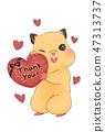 선물 / 하트 / Thank you 47313737
