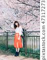 櫻桃與婦女 47317273