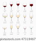 玻璃 葡萄酒 红酒 47319467