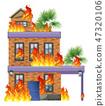 house, vector, disaster 47320106