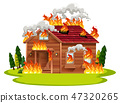 house, vector, flame 47320265