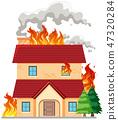 house, smoke, disaster 47320284