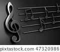 音乐 音符 黑色 47320986