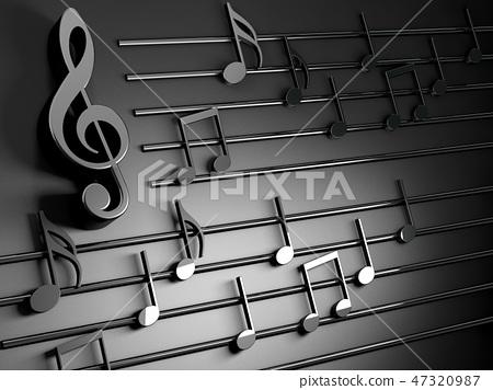 Music background design.Musical writing 47320987
