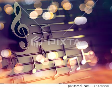 Music background design.Musical writing 47320996