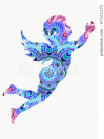 angel or cupid little baby l hand drawn vector llustration ornaments decoration 47321275