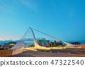 The Samuel Beckett Bridge in night time 47322540