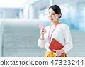 ผู้หญิงธุรกิจ (สมาร์ทโฟน) 47323244