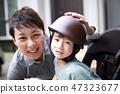 電動自行車(家庭家庭爸爸女兒日本安全保障兒童保育複製空間轉運) 47323677