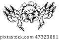eagle, claw, vector 47323891