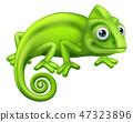 Chameleon Cartoon Lizard Character  47323896